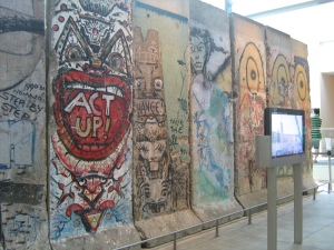 Pieces of the Berlin Wall at the Newseum