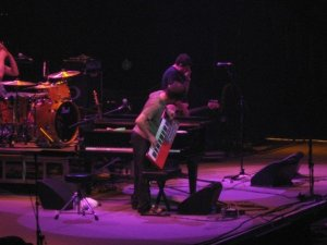 Ben and his keyboard, D.C. in July 2007