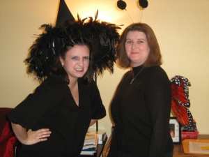 I'm an undead witch; Kelly is a butterfly!