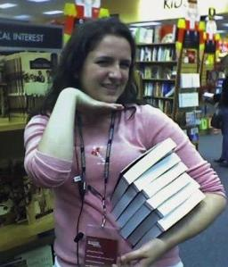 Working around Black Friday at the bookstore, 2006!