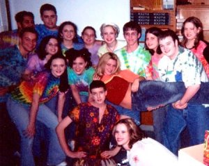 """Cast of """"Sweet Charity"""" at TSHS, 2003. Can you find me?"""