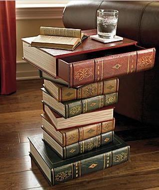For $149 A Piece, You Can Store Your Books In A Table Shaped Like A Book Or  On Top Of A Table Of Faux Books!