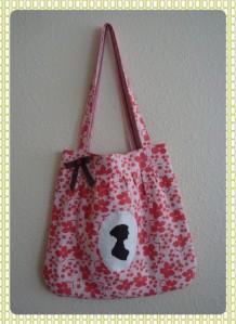 Jane Austen pleated bag by arambling fancy, $25