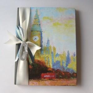 Collage journal notebook -- London by beachcottagestudios, $11