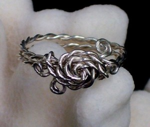 Sterling Rosalie (rose) ring by Rapunzelsgold, $15.75
