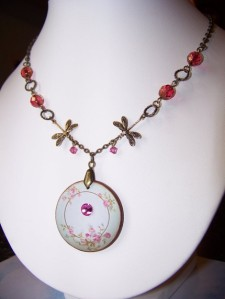 Modern Victorian floral necklace by mrsjabberjaw, $9