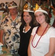 Christmas in July '08. Like our crowns?