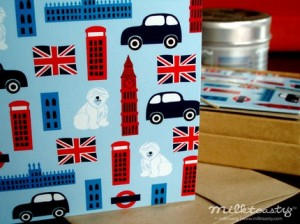London -- boxed set of 10 notecards by milktoasty, $8