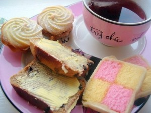 Set of 3 tea time postcards by Lilley, $4