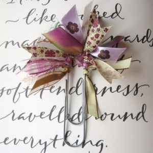 Ribbon bookmark by beachcottagestudio, $4.95