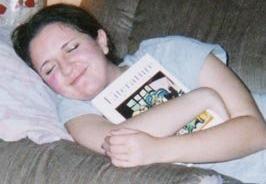 Me, the Happy Reader (and Pretend Napper), circa 2003