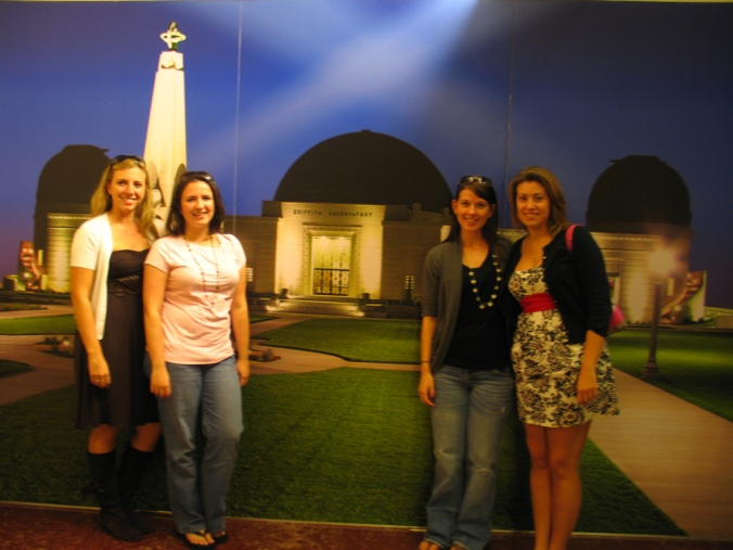 The girls in Griffith Observatory