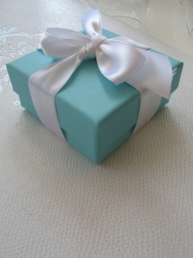 Tiffany's box on our lunch menu