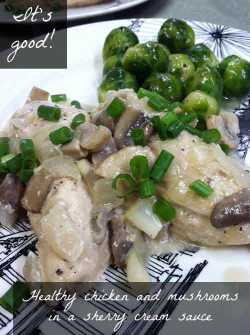 Healthy chicken and mushrooms