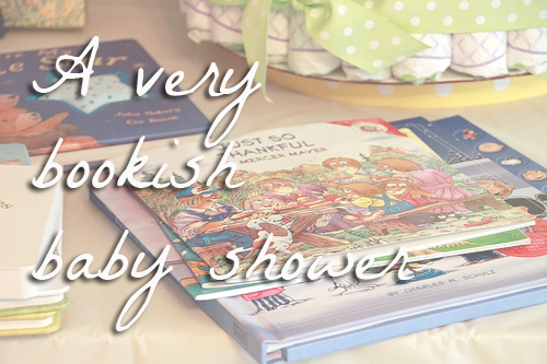 A very bookish baby shower