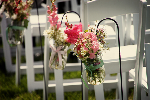Flowers for ceremony