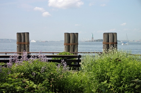 Bench in Battery Park