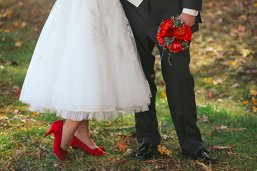 Groom and shoes