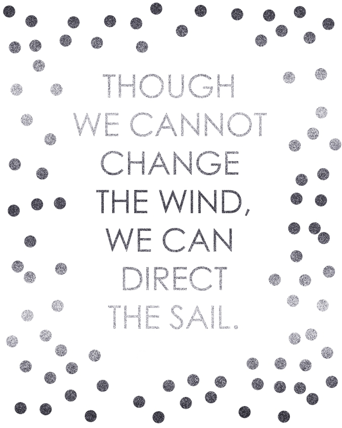 Though we cannot change the wind