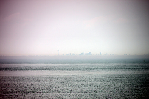 City in the distance