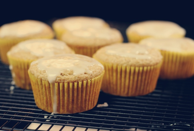 Lemon olive oil muffins