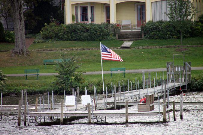 Flag on dock