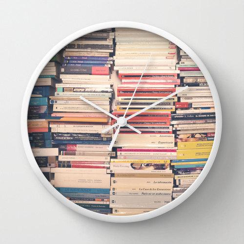 Book lover clock