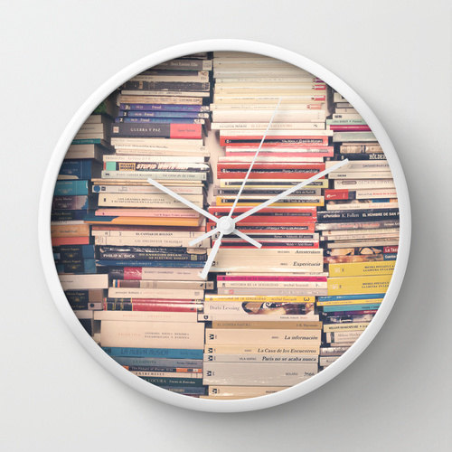 Book lover clock