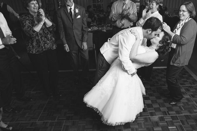 Dance floor kiss