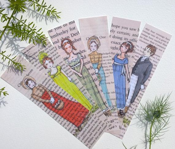 Jane Austen bookmarks