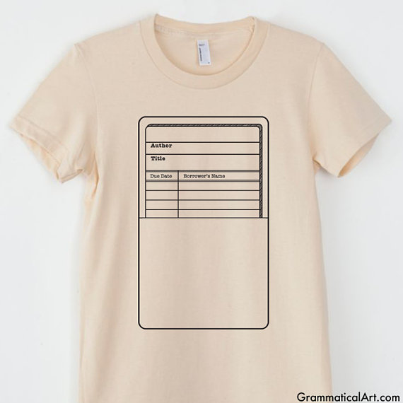 Library card shirt