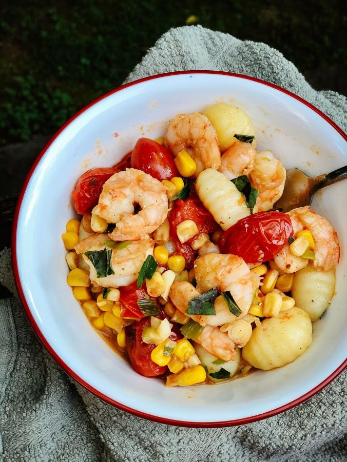 Shrimp gnocchi